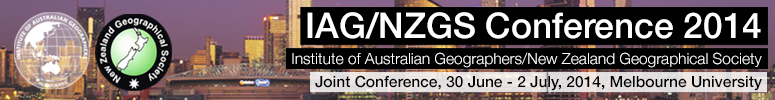 Institute of Australian Geographers & The New Zealand Geographical Society Conference 2014